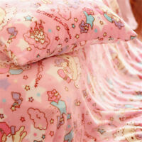 Little Twin Stars Lala Kiki Cute Bedding Flat Sheet Pillowcase Throw Blanket 1PC