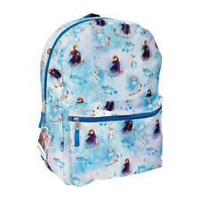 "Frozen 2, Anna/ Elsa/ Olaf All Over Print 16"" Backpack School Bag"