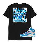 Make Money Not Friends Jordan 1 Retro High Off-White University Printed T-Shirt