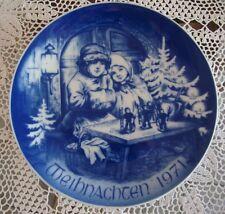 BAREUTHER BAVARIA GERMANY CHILDREN CHRISTMAS PLATE, WEIHNACHTEN 1971