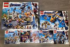 Lego Avengers Bundle Compound 76131, 76144, 76124, 76140, 76141, Hulk, Iron Man