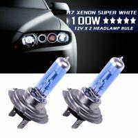 2 Pcs H7 8500K Xenon Lamps Headlight White Light Bulbs 100W Super Bright DC 12V