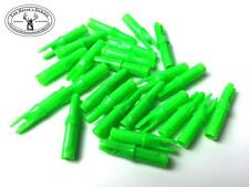 Archery  nocks for carbon arrow end  Green 2 x 10 pce pk = 20 Arc 0005