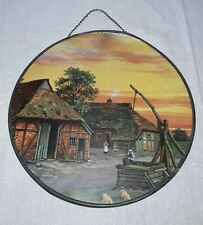 VINTAGE FLUE COVER 9 1/2 INCH COUNTRY FARM HOUSE BARN WELL SHEEP