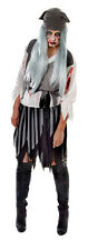 LADIES ZOMBIE PIRATE COSTUME ADULT GREY HAUNTED SPIRIT GHOST SHIP 10-14 NEW