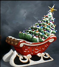 Ceramic Bisque Ready to Paint Sleigh and Christmas Tree with electric