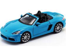 BBURAGO 1:24 DISPLAY Porsche 718 Boxster DIECAST CAR 24087 Blue