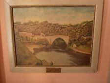 Oil on board Painting Scottish landscape Brig O Balgownie Signed 1950 Aberdeen