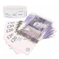 100x £20 Notes UK Pounds Movie Prop Money - Legal Standard - Bargain