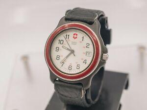 Vintage - Swiss Army Original Enamel Dial Men's Quartz Resin Field Wrist Watch