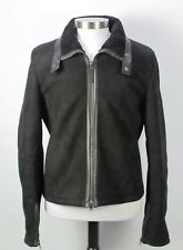 Mint Gucci Black Shearling Leather Motorcycle Jacket 52 EU / 42 US $5800