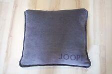 JOOP! Kissen Uni Doubleface Schiefer Anthrazit 50x50cm inkl. Federfüllung NEU