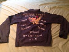 Vtg U.s. Navy Souvenir Tour Denim Jacket Men's S/M Gilmore Valdez