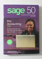 New Sage 50 Pro Accounting 2020, for Windows 7, 8.1, 10 Factory Sealed