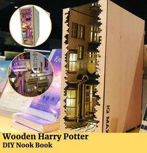 DIY Harry Potter Wooden Book Nook Creativ Craft Jigsaw Bookshelf Castle Building