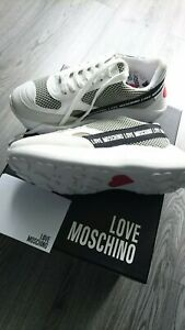 Genuine LOVE MOSCHINO Mesh Sneakers Size 36 UK 3 or 3.5 Heart Patch Chunky Sole