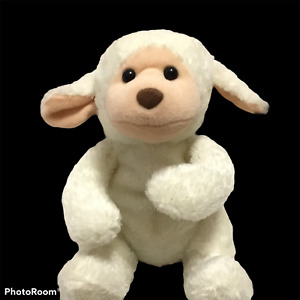 FAO Schwarz Fifth Avenue Baby Lamb Plush Toy Plushie Weighted Bottom Easter