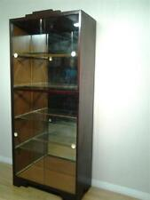 Glass Art Moderne Antique Cabinets