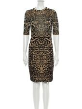 M Missoni Animal print knee length dress leopard cheetah metallic