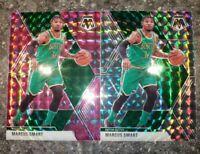 2 2019-20 Panini Mosaic Prizm Silver Pink Camo lot Boston Celtics SP #109