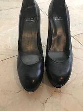 USED Stuart Weitzman  Pump Black  Leather shoe size 9 1/2!! SG