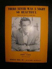 There Never Was A Night So Beautiful Sheet Music Vintage 1954 Perry Como (O)