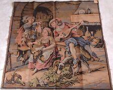 "Vintage Handmade Woven Tapestry (Gobelin) Made in France French Scene 53"" x 50"""