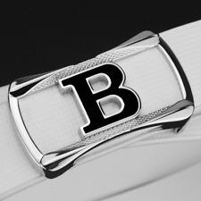 High Quality Genuine Leather B Style Buckle Belt Women Men Leather Waist Strap