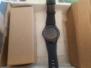 Samsung Gear S3 Frontier 46mm Stainless Steel Case Dark Gray Sport Band