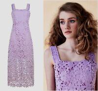 ex Ukulele Crochet Floral Bridesmaid Wedding Occasion Dress
