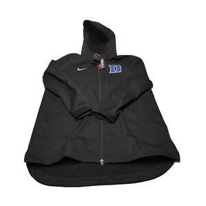 Nike Shield Protect Duke Blue Devils Hooded Jacket Size XL Black Blue White