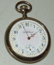 Antique Working 1912 SOUTH BEND Fancy Dial & Hands 17J Gold GF Pocket Watch 16s