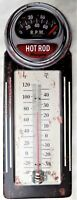 THERMOMETRE métal vintage HOT ROD -30 X 10 CM