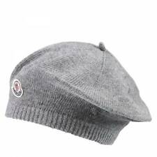 NWT NEW Moncler baby girls gray wool beret hat with logo XS