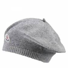 7fc1c4066f1 NWT NEW Moncler baby girls gray wool beret hat with logo XS