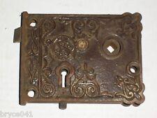 Antique Corbin Very Ornate Rim Lock With Slide Bolt #40