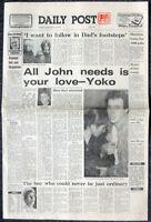 LIVERPOOL DAILY POST NEWSPAPER 10 DEC 1980 . JOHN LENNON SHOT DEAD THE BEATLES