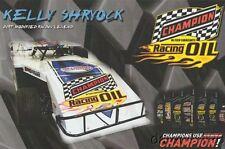 2016 Kelly Shryock Champion Oil PRI Show Promo Dirt Modified postcard