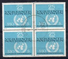 AUSTRIA = 1970 United Nations, 3.50s. SG1598. `SON` Block of 4. Used.
