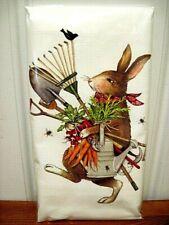 """Mary Lake Thompson """"Garden Tools Rabbit"""" Flour Sack Towel"""