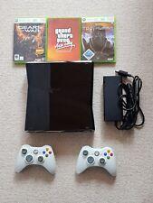 Spielekonsole Microsoft Xbox 360 Slim 250GB + 2 Controller ohne Kinect + 3 Spiel