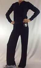 Juicy Couture Velour Set Tracksuit Hoodie Pants Regal Blue Size M