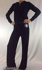 Juicy Couture Velour Set Tracksuit Hoodie Pants Regal Blue Size S