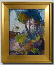 JOSE TRUJILLO - Oil Painting Modern Impressionist MEADOW TREES COLORIST ARTWORK