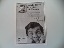 advertising Pubblicità 1968 LAVASTOVIGLIE NAONIS LS 208