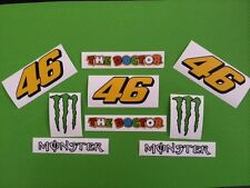 Rossi 46 Helmet and Visor or Fairing Stickers Decals Kit - 10 piece kit #85