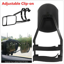 Car Caravan Trailer Wide Field Clip-on Extension Towing Glass Rearview Mirror