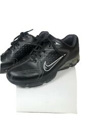 Nike Air Max Tac Power Channel Black Leather Golf Shoes Mens Size 8.5