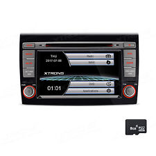 "7"" Autoradio Navi Doppel 2 DIN GPS Navigation DVD USB SD Map für FIAT BRAVO 198"
