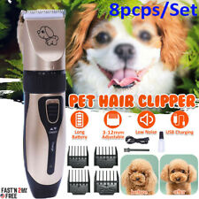 Usa Pet Shave Clipper Hair Low Noise Cordless Electric Dog Cat Grooming Trimming